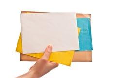 Cartas a disposición imagenes de archivo