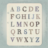 Cartas drenadas mano del ABC stock de ilustración