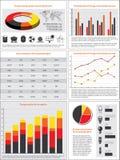 Cartas e estatísticas da energia Fotos de Stock Royalty Free