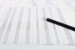 Cartas e gráficos das vendas Imagem de Stock