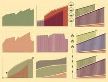 Cartas e indicadores do vintage Imagens de Stock Royalty Free