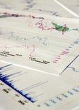 Cartas financeiras Fotografia de Stock Royalty Free
