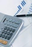 Cartas financeiras Imagens de Stock