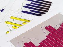 Cartas financeiras Foto de Stock