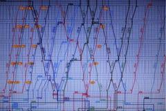 Cartas financeiras na tela grande Fotos de Stock