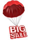 Cartas grandes de la venta 3d en el paracaídas Fotos de archivo libres de regalías