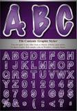 Cartas gráficas del estilo Imagen de archivo