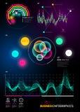 Cartas infographic de la estadística del negocio Imagen de archivo