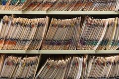 Cartas médicas imagens de stock