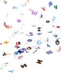 Cartas que caen Imagen de archivo