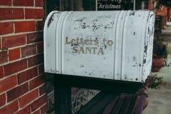 Cartas a Santa Imagen de archivo libre de regalías