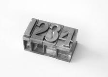Cartas tipográficas metálicas   Imagen de archivo libre de regalías