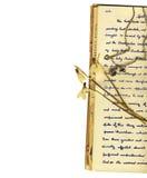Cartas y flores Imágenes de archivo libres de regalías