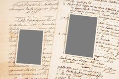 Cartas y fotos viejas imagen de archivo