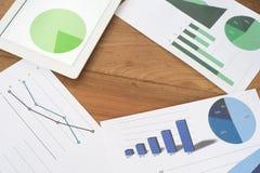 Cartas y gráficos de la planificación de empresas Fotografía de archivo libre de regalías