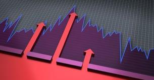 Cartas y gráficos financieros stock de ilustración