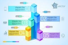 Cartas y gráficos modernos de negocio Imagen de archivo libre de regalías