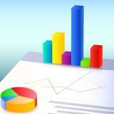 Cartas y gráficos financieros Imagen de archivo