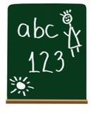 Cartas y números de la escuela primaria Fotografía de archivo libre de regalías