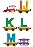 Cartas y números del tren Imagen de archivo