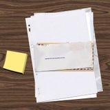 Cartas y papel Imagen de archivo libre de regalías