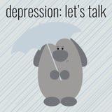 Cartaz à depressão do dia da saúde Foto de Stock Royalty Free