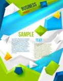 Cartaz abstrato com polígono Fotografia de Stock