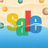 Cartaz abstrato da venda do verão do vetor Fotos de Stock