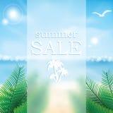 Cartaz abstrato da venda do verão do vetor Imagens de Stock