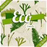 Cartaz amigável de Eco. Imagem de Stock Royalty Free