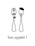 Cartaz: Appetit do Bon! Foto de Stock Royalty Free