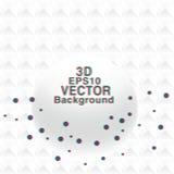 Cartaz artístico dos círculos do vetor com efeito 3d Fotografia de Stock Royalty Free