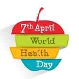 Cartaz, bandeira ou inseto para o dia de saúde de mundo Fotografia de Stock Royalty Free