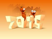 Cartaz, bandeira ou inseto pelo Feliz Natal e o ano novo Fotografia de Stock