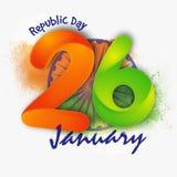 Cartaz, bandeira para a celebração do dia da república Fotos de Stock Royalty Free