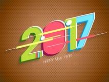 Cartaz, bandeira pelo ano novo feliz Fotos de Stock
