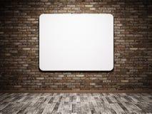 Cartaz branco na parede ilustração royalty free