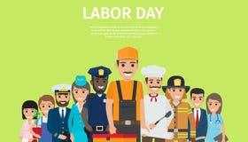 Cartaz brilhante da promoção do Dia do Trabalhador internacional ilustração do vetor