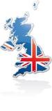 Cartaz BRITÂNICO Fotografia de Stock