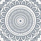 Cartaz circular da mandala do vintage Imagens de Stock Royalty Free