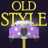 Cartaz clássico do carro Fotos de Stock Royalty Free