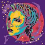Cartaz colorido hairstyle Espaço abstrato ilustração do vetor
