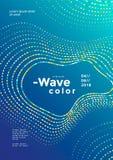 Cartaz colorido moderno da onda do mosaico ilustração stock