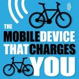 Cartaz com bicicleta Fotografia de Stock