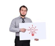 Cartaz com lâmpada Fotos de Stock