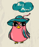 Cartaz com pássaro engraçado. Foto de Stock