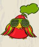 Cartaz com pássaro engraçado. Imagem de Stock Royalty Free
