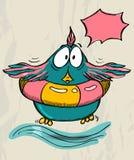 Cartaz com pássaro engraçado. Foto de Stock Royalty Free