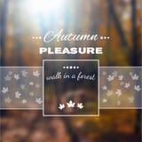 Cartaz com paisagem do outono EPS, JPG Fotos de Stock Royalty Free