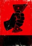 Cartaz com punho e dinheiro Imagens de Stock
